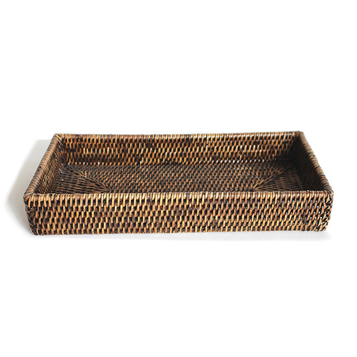 Rectangular Bath Tray - Antique Brown - Blue Rooster Trading