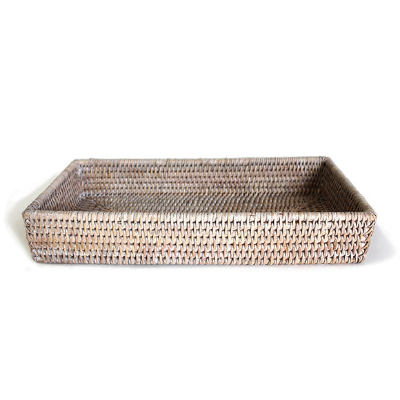 Rectangular Bath Tray - White Wash - Blue Rooster Trading