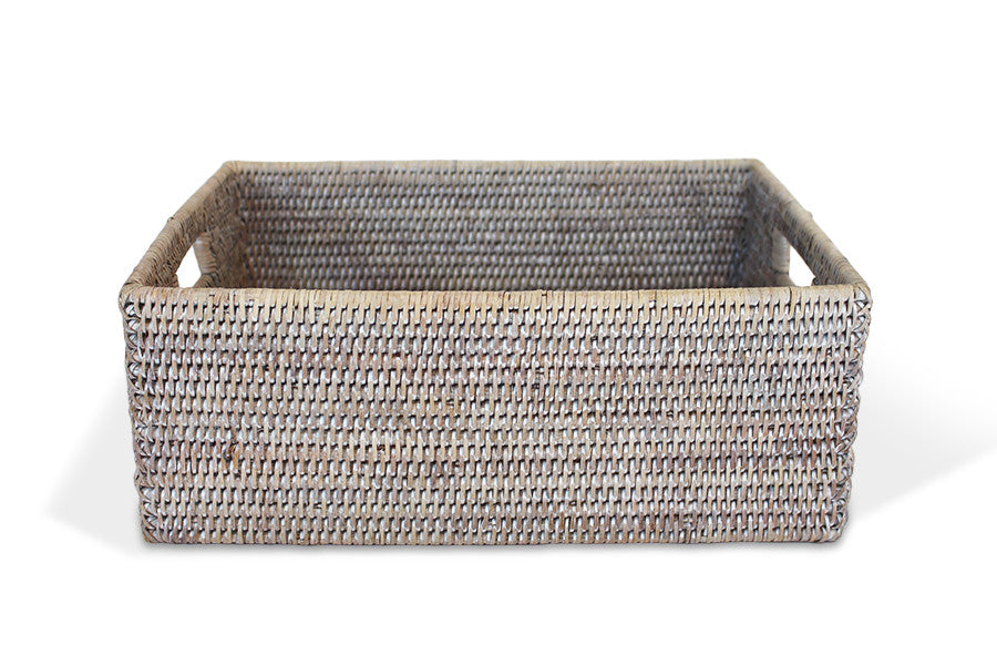 Rectangular Everything Basket - White Wash - Blue Rooster Trading