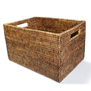 "Rectangular Open Storage Basket 16 x 10 x 9.5""H"