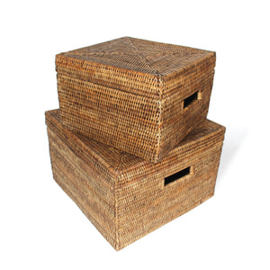 Load image into Gallery viewer, Storage Baskets Square Set of 2