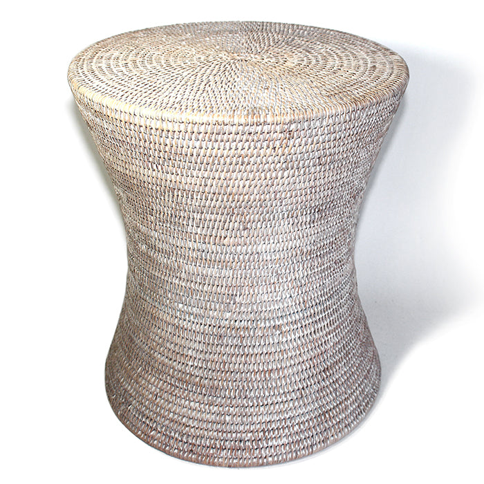 Load image into Gallery viewer, Hourglass Shaped Rattan Stool Stool
