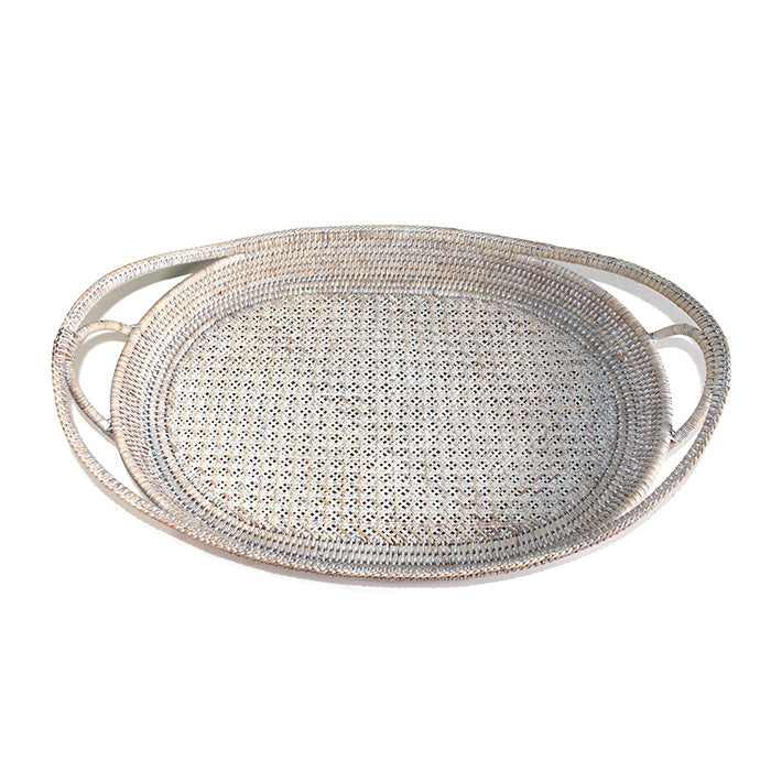 Oval Christmas Tray with Open Handles