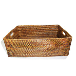 "Load image into Gallery viewer, Rectangular Family Basket 23x17x8""H - White Wash"