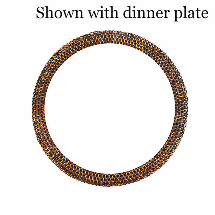 Plate Charger Round - Antique Brown - Blue Rooster Trading