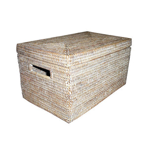 "Storage Basket Rectangular w/ Lid 16x10x9""H"