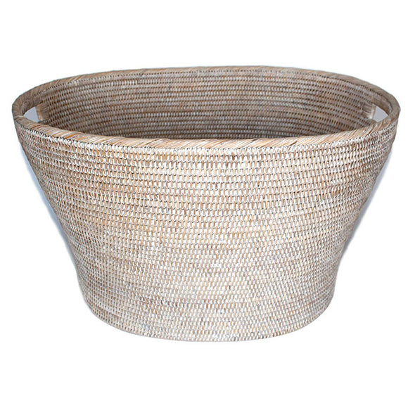 Oval Family Basket - White Wash - Blue Rooster Trading