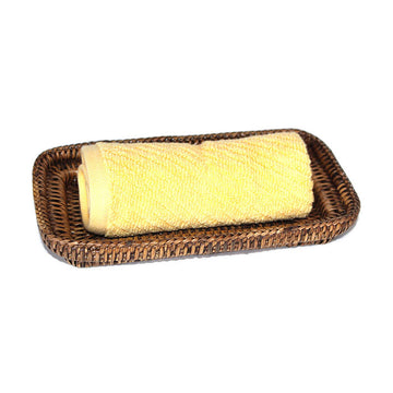 Guest Towel Roll Tray - Antique Brown - Blue Rooster Trading