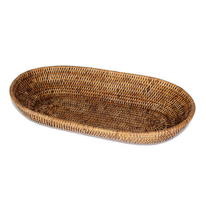 Load image into Gallery viewer, Oval Bread Basket - Antique Brown - Blue Rooster Trading