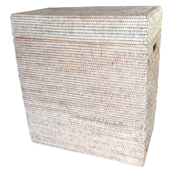 Rectangular Storage Basket with Removable Lid 20x10x22