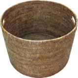 "Round Open Storage Basket 20x20x14""H - Antique Brown"