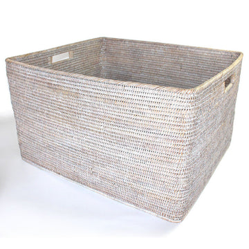 Storage Basket with Cutout Handles 26x22x15