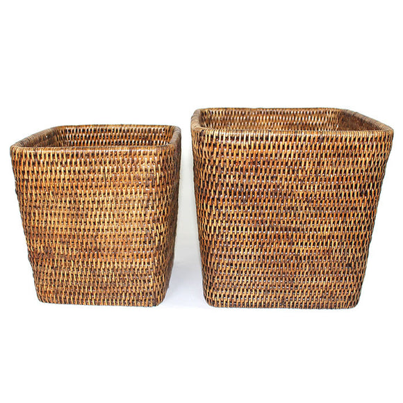 Planter Basket Set 2 Square WVR AB 7.5x8