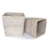 "Planter Basket Set 2 Square WVR WW 7.5x8""/9x9.5"".. - Blue Rooster Trading"