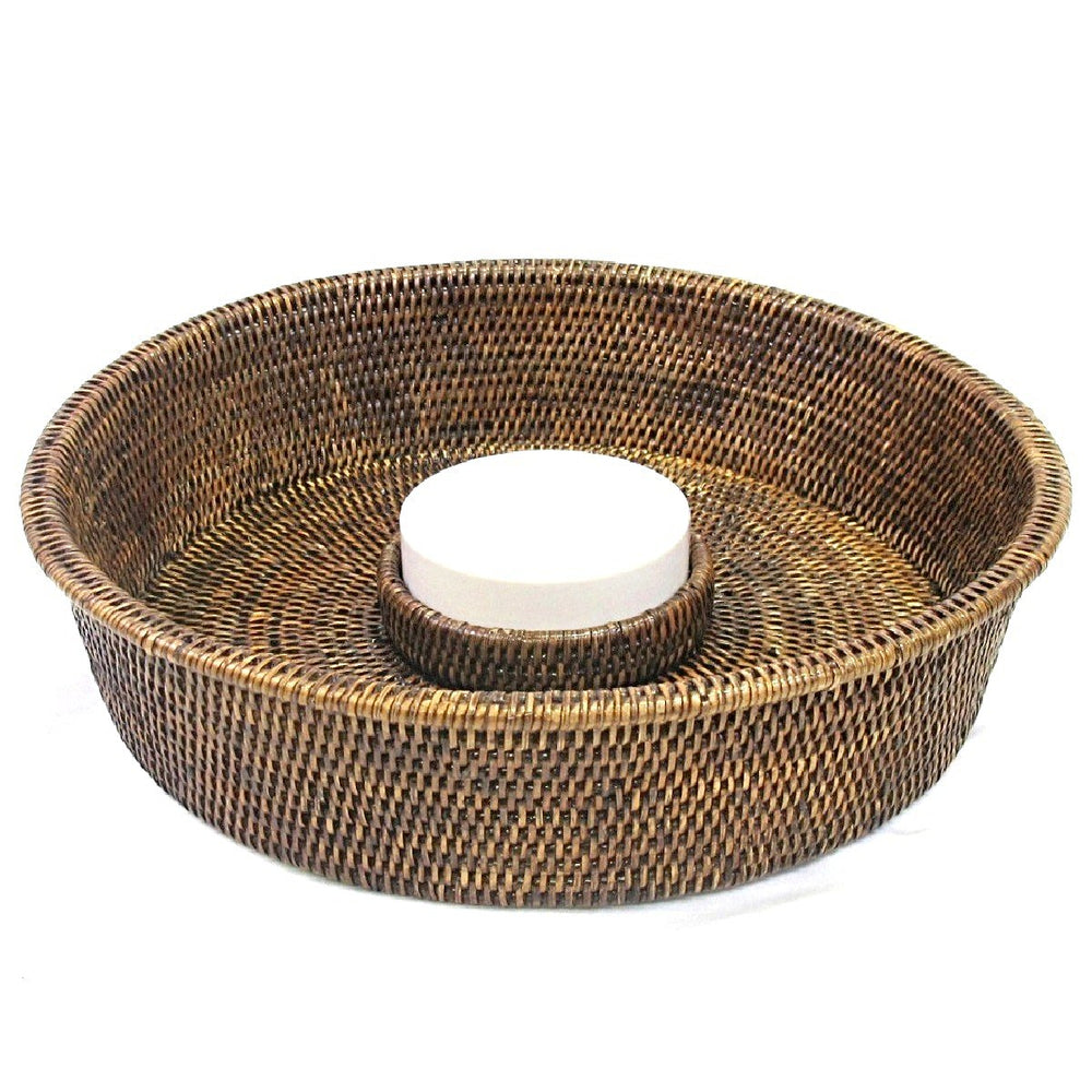 Chip & Dip Tray - Antique Brown