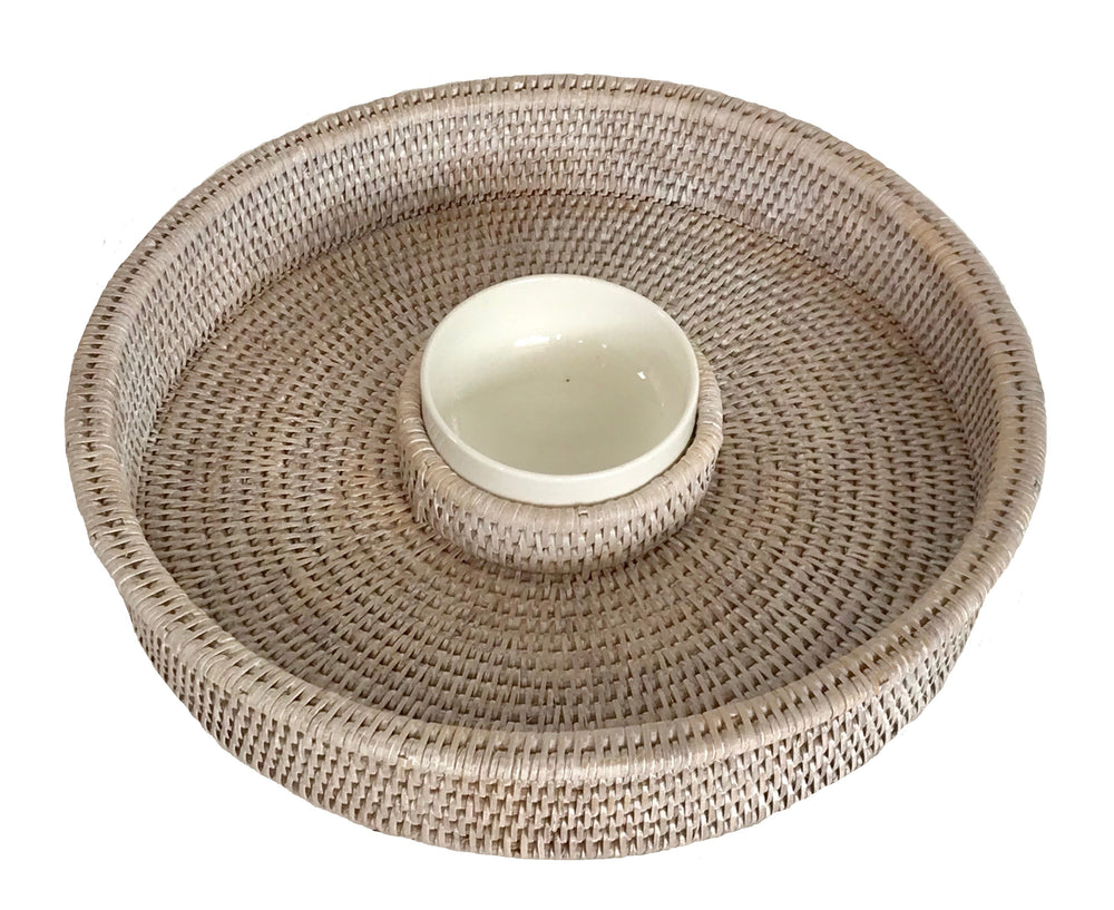 Chip & Dip Tray - White Wash