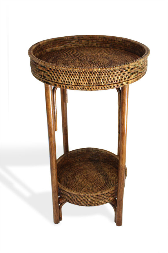 Table Stack Round - Antique Brown - Blue Rooster Trading