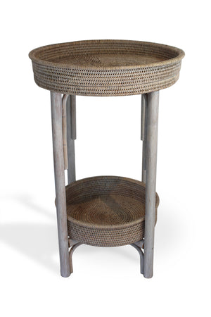 Table Stack Round - Antique Brown