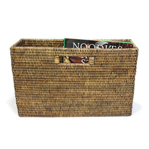 "Magazine Basket  Slim WVR - AB 16x5x10"".. - Blue Rooster Trading"