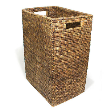 Magazine Standing Basket - Antique Brown - Blue Rooster Trading