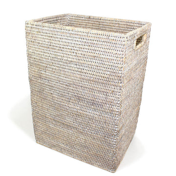 Magazine Standing Basket - White Wash - Blue Rooster Trading