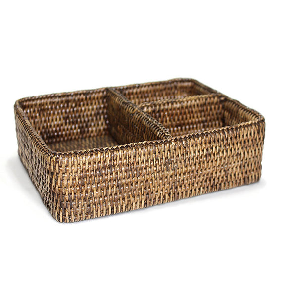 3-Section Tray - Antique Brown