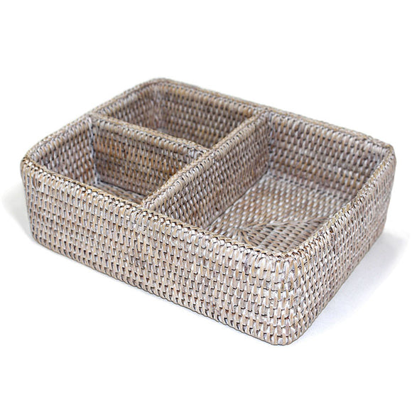3-Section Tray - White Wash