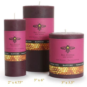 Rapture Beeswax Candles