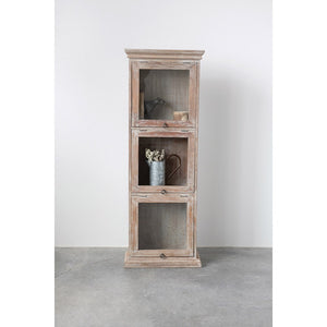 Distressed Glass Cabinet