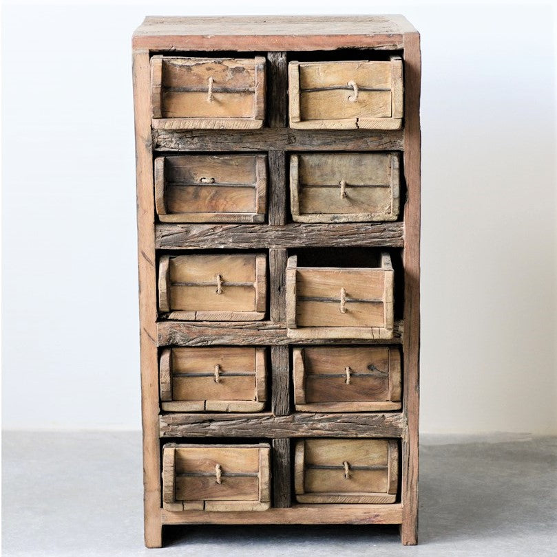 Wood Brick Mold Cabinet