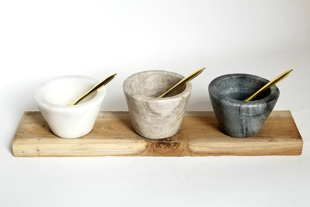 Condiment Marble Bowl Set