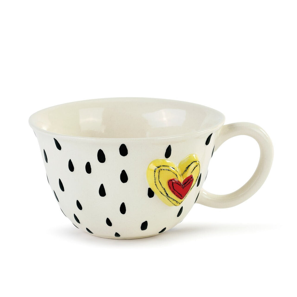 Load image into Gallery viewer, Raindrop Heart Latte Mug