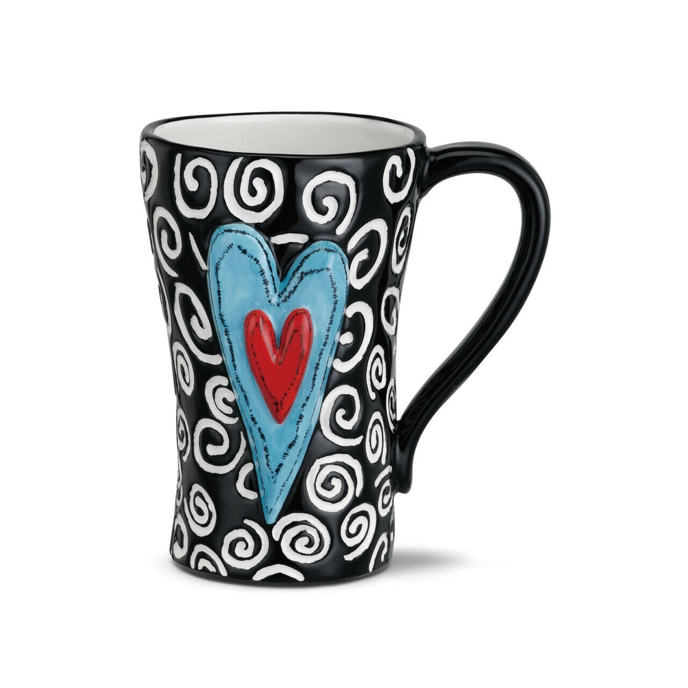 Tall Heart Swirl Mug