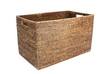 Rectangular Laundry Basket - Antique Brown - Blue Rooster Trading