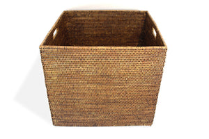 Square Laundry Basket - Antique Brown - Blue Rooster Trading