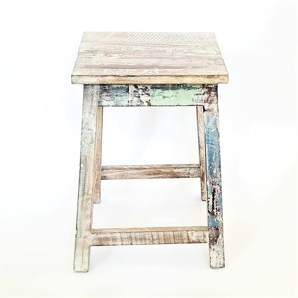 Load image into Gallery viewer, Bombay Square Rustic Stool