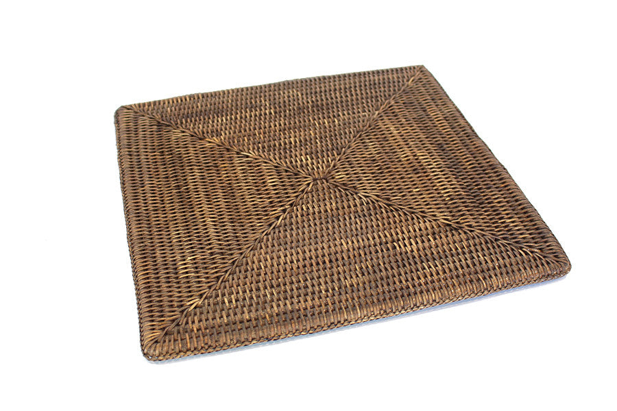 Square Placemat - Antique Brown - Blue Rooster Trading