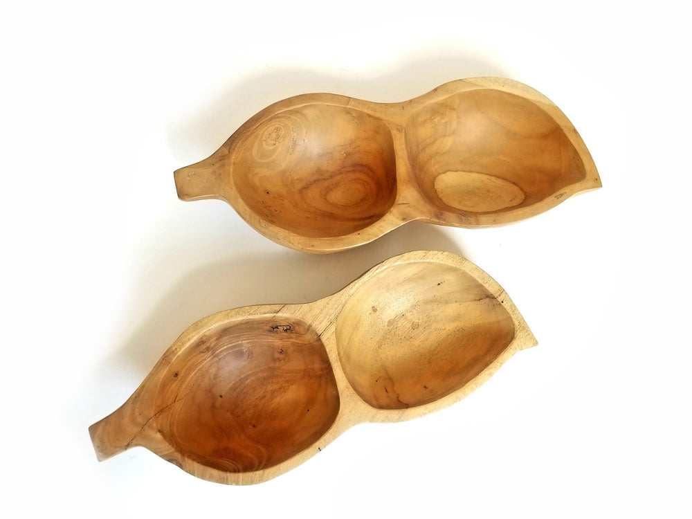 Bean Pods Acacia Wooden Bowl