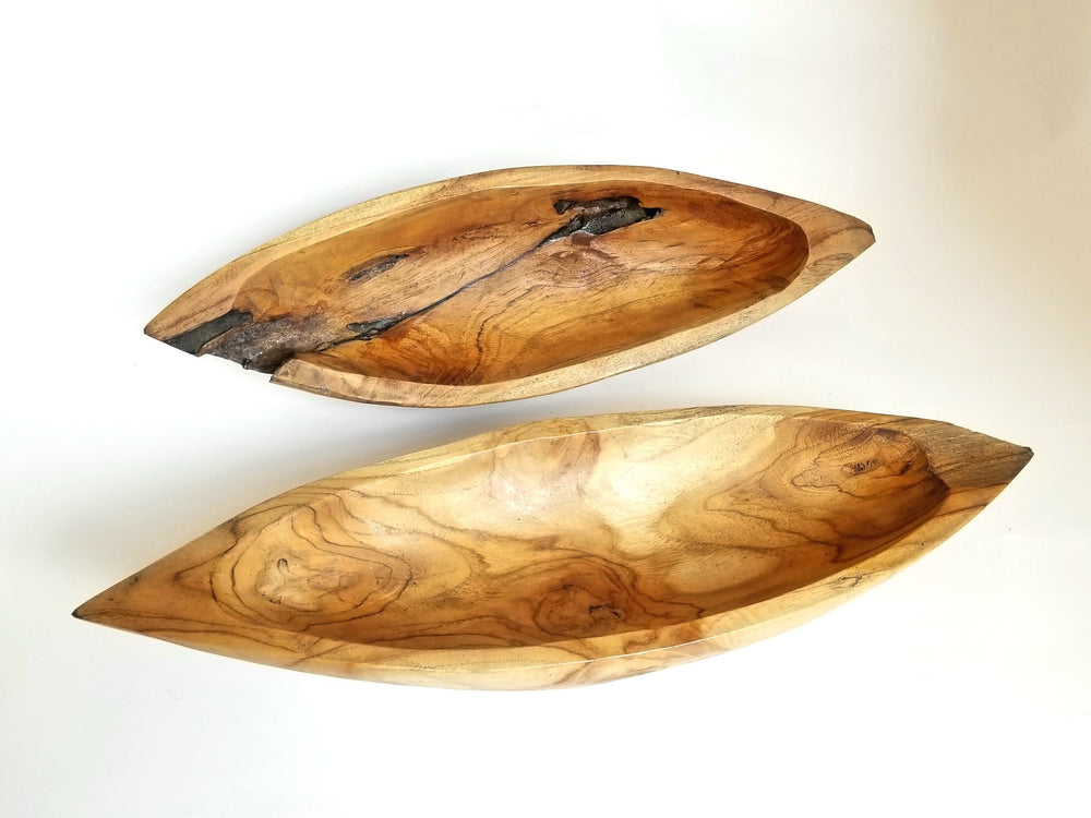 Boat Shape Acacia Bowl