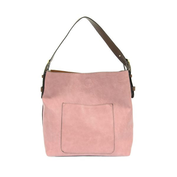 Classic Misty Mauve Hobo Vegan Leather Handbag