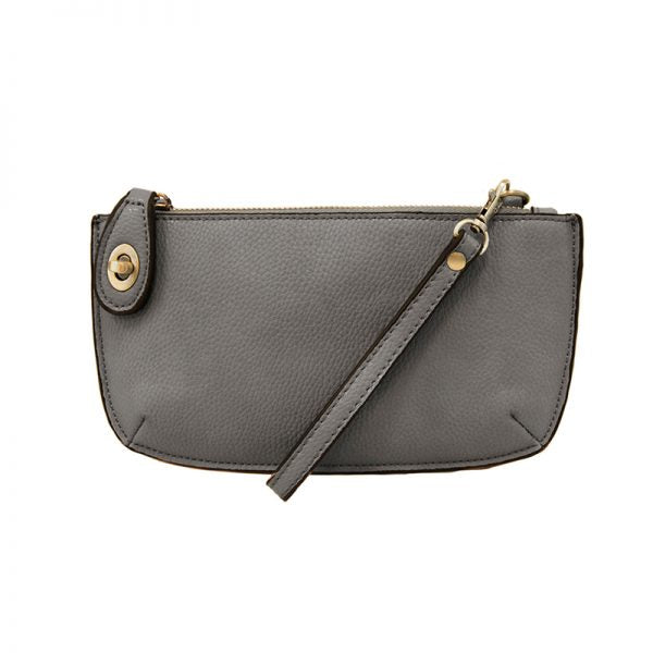 Kate Charcoal Vegan Leather Mini Clutch