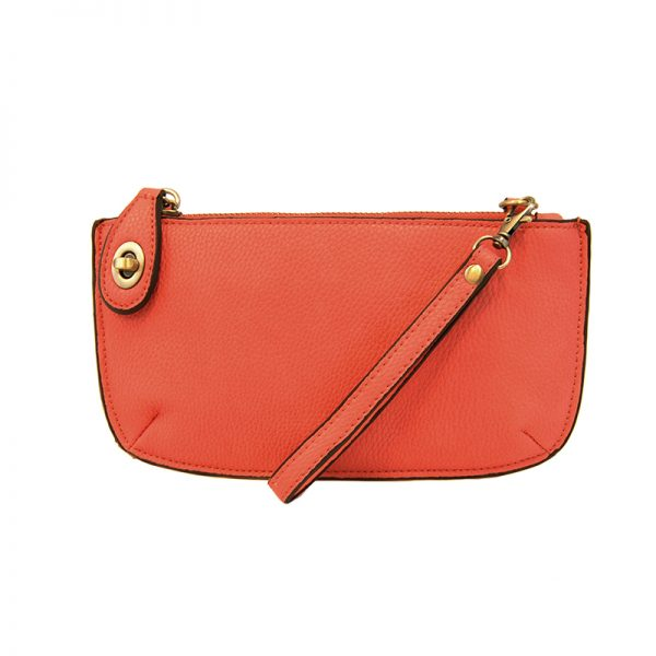 Kate Coral Vegan Leather Mini Clutch