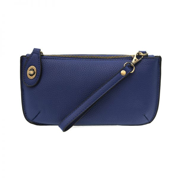 Kate Dark Cobalt Vegan Leather Mini Clutch