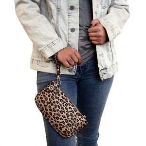 Load image into Gallery viewer, Leopard Natural Vegan Leather Mini Clutch