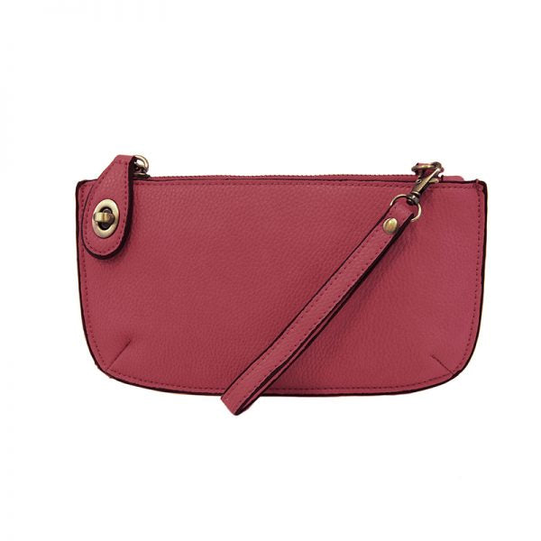 Kate Raspberry Vegan Leather Mini Clutch