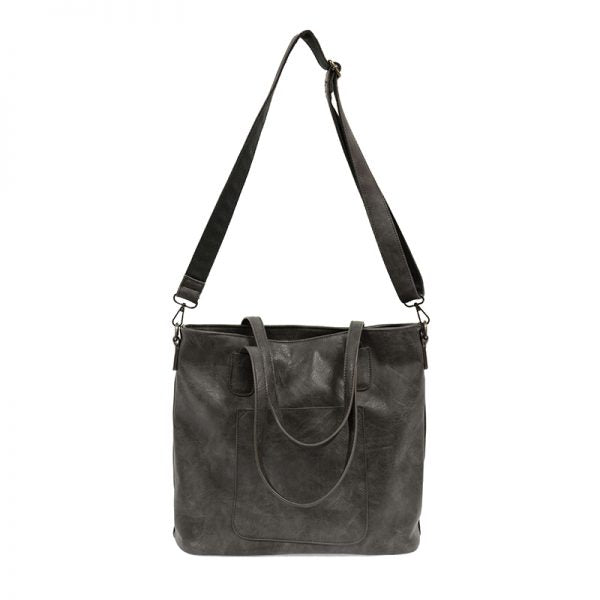 Terri Storm Grey Vegan Leather Traveler Handbag