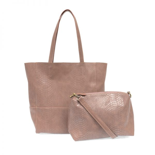 Avery Rose Clay Python Vegan Leather Tote Handbag