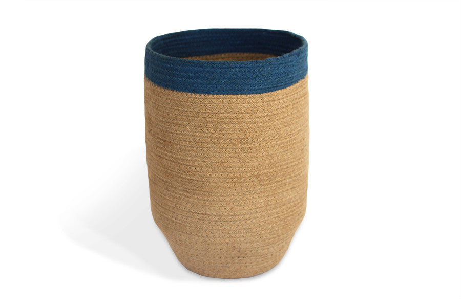 JUT007-NLBLU: Trash Bin with tapered bottom - Blue Rooster Trading