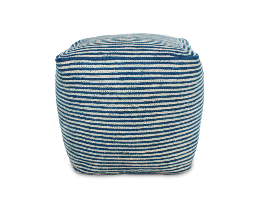 Jute Square Pouf - Indigo Blue - Blue Rooster Trading
