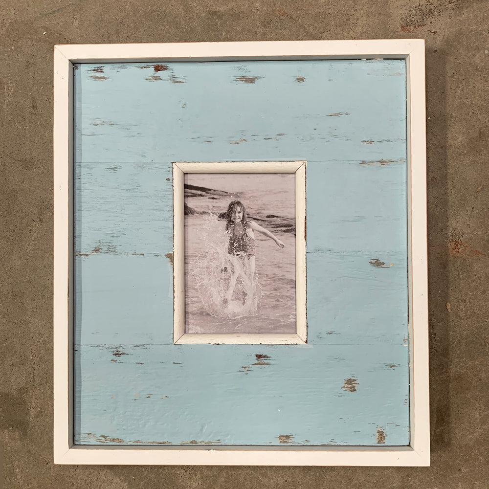 "Frame Wide Panel 14x16"" - Light Blue"